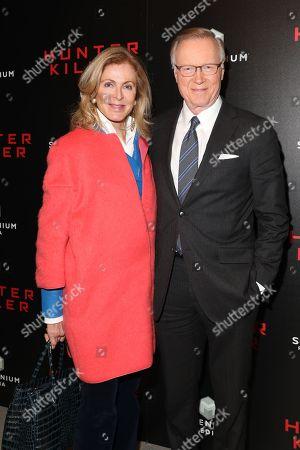 Ellen Ward and Chuck Scarborough
