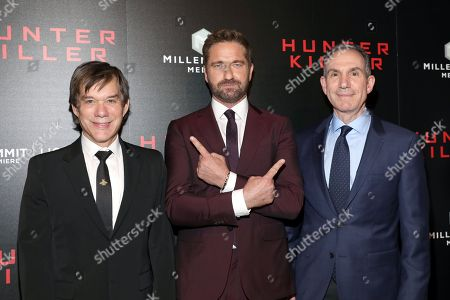 Stock Image of Alan Siegel, Gerard Butler and Toby Jaffe