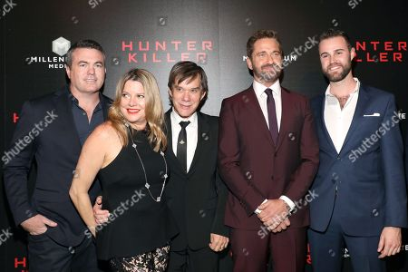 Stock Picture of Tucker Tooley, Alan Siegel, Gerard Butler and guests