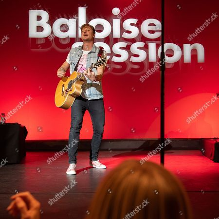 Samu Haber performs with his band Sunrise Avenue on stage at the Baloise Session in Basel, Switzerland, 19 October 2018.