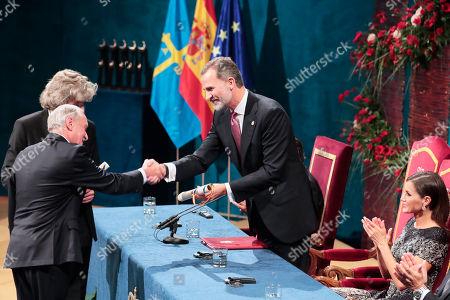 Editorial picture of Princess of Asturias Awards, Oviedo, Spain - 19 Oct 2018