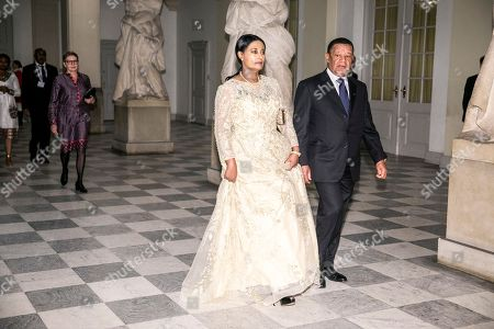 Ethiopian President Mulatu Teshome (R) Arrives with his wife, Meaza Abraham, at the Christiansborg Castle in Copenhagen in connection with the P4G summit in Copenhagen, Denmark, 19 October 2018. P4G stands for Partnership for Green Growth and the Global Goals 2030 and is a global initiative that Denmark together with South Korea, Ethiopia, Vietnam, Chile, Mexico and Kenya behind.