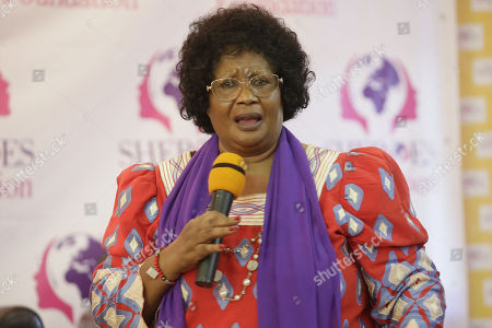 Former President of Malawi, Joyce Banda speaks during the end of the three-days 'International Sheroes Forum 2018' in Monrovia, Liberia, 19 October 2018. The International Sheroes Forum brings together leaders and personalities to discusses and bolster the influence of women on the African continent and the world in general.