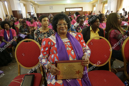 Former Malawian President Joyce Banda during the end of the three-days 'International Sheroes Forum 2018' in Monrovia, Liberia, 19 October 2018. The International Sheroes Forum brings together leaders and personalities to discusses and bolster the influence of women on the African continent and the world in general.
