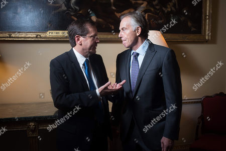 Yitzhak Herzog and Tony Blair.