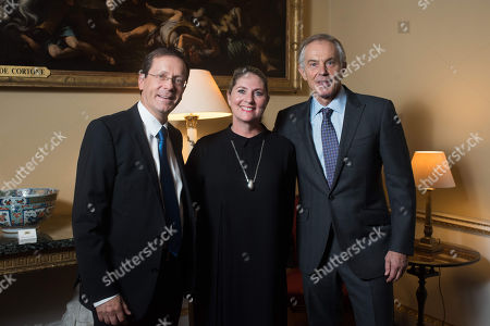 Yitzhak Herzog, Michal Herzog and Tony Blair.