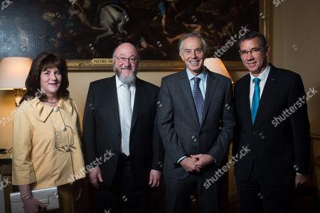 Valerie Mirvis, Chief Rabbi Ephraim Mirvis, Tony Blair, Ambassador Mark Regev.
