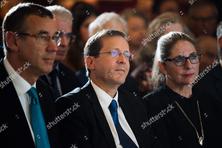Stock Picture of Ambassador Mark Regev, Yitzhak Herzog, Michal Herzog.