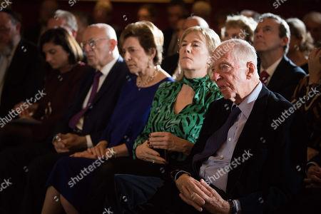 Stock Image of Lord Jacob Rothschild, Hannah Rothschild, Susan Chinn CBE, Sir Trevor Chinn, Louise Jacobs, Chief Rabbi Ephraim Mirvis.