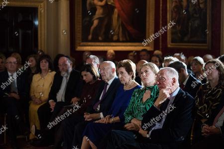 Lord Jacob Rothschild, Hannah Rothschild, Susan Chinn CBE, Sir Trevor Chinn, Louise Jacobs, Chief Rabbi Ephraim Mirvis, Valerie Mirvis, Michael Wegier.