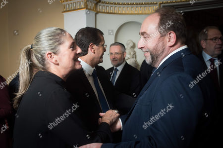Stock Picture of Michal and Yitzhak Herzog with Guest.