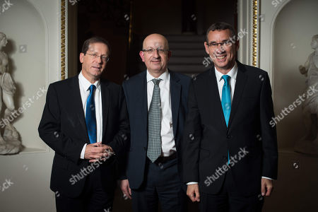 Yitzhak Herzog, Michael Wegier, Ambassador Mark Regev.
