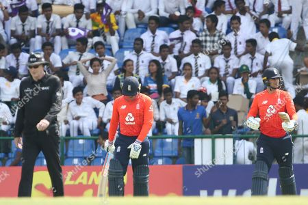 Alex Hales & Jason Roy  during the One Day International match between Sri Lanka and England at Pallekele International Cricket Stadium, Pallekele