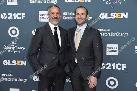 David Kohan, Max Mutchnick. Attends the 2018 GLSEN Respect Awards at the Beverly Wilshire Hotel, in Beverly Hills,Calif