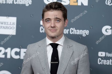 Robbie Rogers attends the 2018 GLSEN Respect Awards at the Beverly Wilshire Hotel, in Beverly Hills,Calif