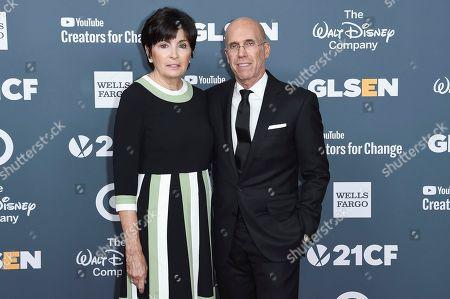Marilyn Katzenberg, Jeffrey Katzenberg. Marilyn Katzenberg, left, and Jeffrey Katzenberg attend the 2018 GLSEN Respect Awards at the Beverly Wilshire Hotel, in Beverly Hills,Calif