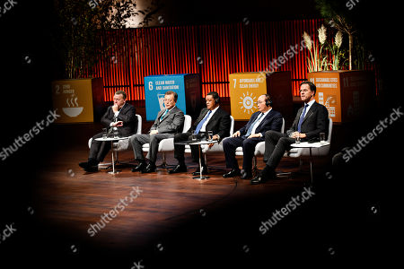 Prime Minister Lars Loekke Rasmussen, President of Korea Moon Jae-In, President of Ethiopia Mulatu Teshome, Prime Minister of Vietnam Nguyen Xuan Phuc and Prime Minister of the Netherlands Mark Rutte listen during day two of the P4G summit at the DR Koncerthuset in Copenhagen, 19 October 2018. P4G stands for Partnership for Green Growth and the Global Goals 2030 and is a global initiative which Denmark, along with South Korea, Ethiopia, Vietnam, Chile, Mexico and Kenya are involved in.