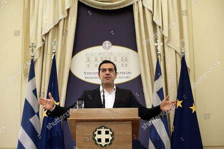 Editorial picture of Greek Prime Minister Alexis Tsipras takes over the Foreign Ministry after the resigning of former FM Nikos Kotzias, Athens, Greece - 20 Oct 2018