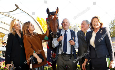 CRACKSMAN with Anthony Oppenheimer and family after The Qipco Champions Stakes Ascot