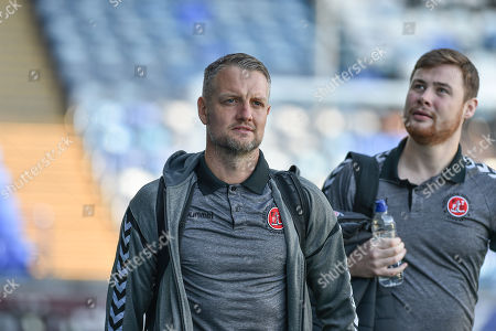 Fleetwood Town Assistant Manager, Clint Hill arrives at Fratton park during the EFL Sky Bet League 1 match between Portsmouth and Fleetwood Town at Fratton Park, Portsmouth