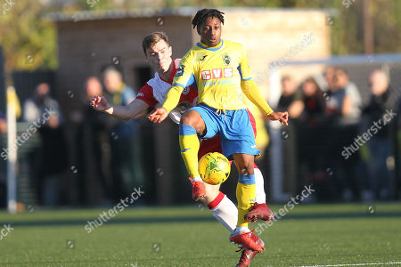 Michael Ademiluyi of Haringey during Haringey Borough vs Poole Town, Emirates FA Cup Football at Coles Park Stadium on 20th October 2018