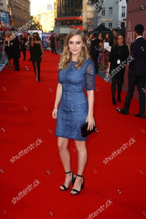 Faye Marsay poses for photographers upon arrival at the premiere of the film 'A Private War' in London during the London Film Festival