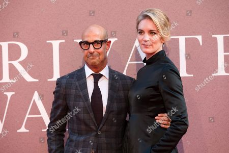 Stanley Tucci (L) and his wife Felicity Blunt arrive for the gala presentation of the movie 'A Private War' at the BFI London Film Festival 2018, in London, Britain, 20 October 2018. The festival runs from the 10 to 21 October.