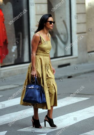 Editorial photo of Rula Jebreal out and about, Milan, Italy - 20 Oct 2018