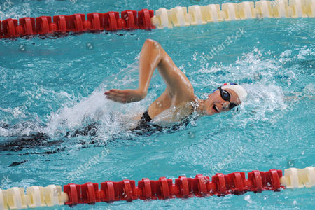 GB pentathlete Freyja Prentice during the swimming discipline