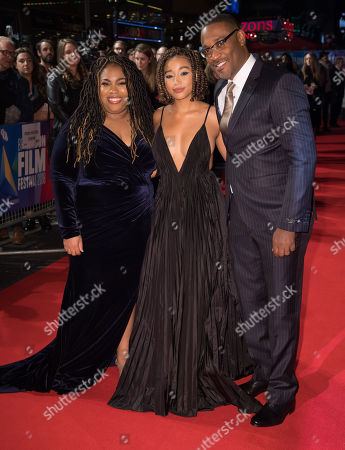 Stock Image of Angie Thomas, Amandla Stenberg and George Tillman Jr