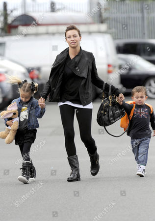 Stacey Giggs, daughter Liberty and son Zach.