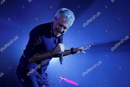 Sergio Dalma performs during the concert 'Cadena 100 por ellas' (Chain 100 for women), a benefit musical event by the Spanish Association Against Cancer, at the Sports Palace in Madrid, Spain, 20 October 2018.