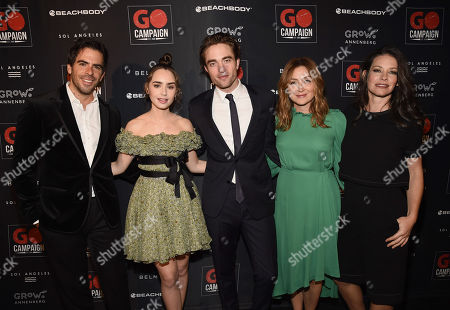 Eli Roth, Lily Collins, Robert Pattinson, Sasha Alexander and Evangeline Lilly attend the GO Campaign 2018 Gala.