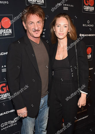 Sean Penn and Dylan Penn attend the GO Campaign 2018 Gala.