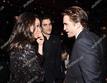 Evangeline Lilly, Nicholas Jarecki and Robert Pattinson attend the GO Campaign 2018 Gala.