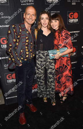Stock Image of Scott Fifer, Clara McGregor and Eve Mcgregor attend the GO Campaign 2018 Gala.