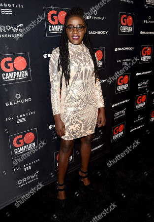 Stock Image of Phiona Mutesi attends the GO Campaign 2018 Gala.