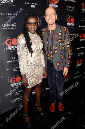 Stock Picture of Phiona Mutesi and Scott Fifer attend the GO Campaign 2018 Gala.