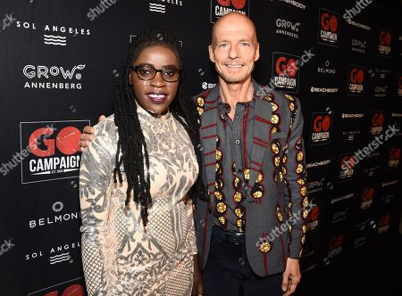 Phiona Mutesi and Scott Fifer attend the GO Campaign 2018 Gala.