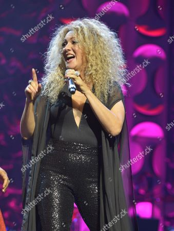 Erika Ender performs at the 6th Annual Latin Songwriters Hall Of Fame La Musa Awards at James L Knight Center