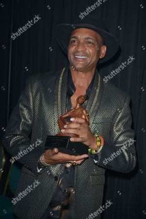 Descemer Bueno backstage at the 6th Annual Latin Songwriters Hall Of Fame La Musa Awards at James L Knight Center
