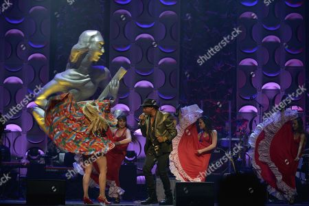 Stock Image of Descemer Bueno performs at the 6th Annual Latin Songwriters Hall Of Fame La Musa Awards at James L Knight Center