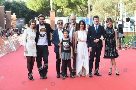 Stock Photo of Micaela Ramazzotti and Fabio De Luigi with cast