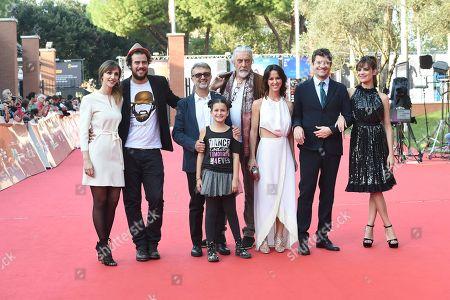 Micaela Ramazzotti and Fabio De Luigi with cast