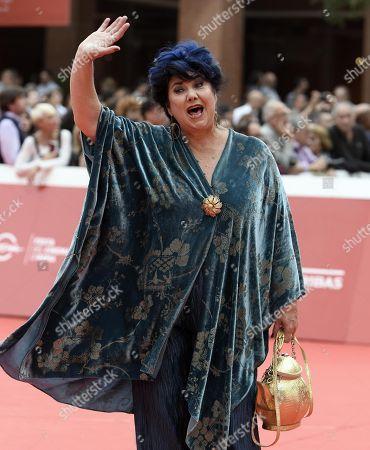 Marisa Laurito arrives for the premiere of 'Sono Gassman! Vittorio re della commedia' during the 13th annual Rome Film Festival, in Rome, Italy, 21 October 2018. The film festival runs from 18 to 28 October.
