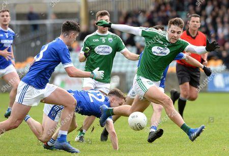 Naomh Conaill vs Gaoith Dobhair. Gaoith Dobhair's Michael Carroll keeps an eye on the ball