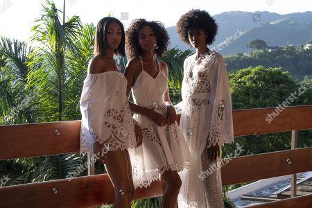 Stock Photo of Crystal Noriega, Naomi Chin Wing, Michelene Auguste