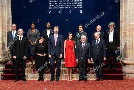 Stock Picture of Sylvia Earle, King Felipe VI of Spain, Queen Letizia, Martin Scorsese
