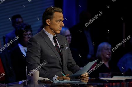 Moderator Jake Tapper during a CNN Florida's governor debate, in Tampa, Fla