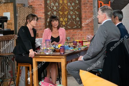 Ep 9607 Wednesday 7th November 2018 - 2nd Ep  Circuit Judge Leonard joins Paula, as played by Stirling Gallacher, Julian and Sophie Webster, as played by Brooke Vincent, in Speed Daal. As the 'in jokes' fly Sophie's sidelined and when Leonard pushes his glass towards her, expecting her to fill it, Sophie loses her rag. Paula points out she's just insulted the Judge who could preside over Sally's trial, Sophie's heart sinks.